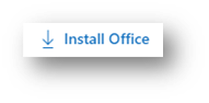 Install Office next to a downward arrow