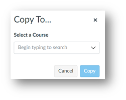 """After clicking Copy To, a field displays """"Begin typing to search"""" with a Copy button at the bottom right."""