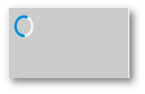 Grey rectangle with circle that is part blue and part white.