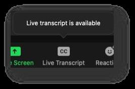 CC button in a black toolbar.