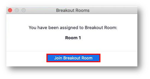 Join breakout room button